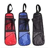 Car Seat Side Back Storage Organizer Multi Pocket Holder Bag Backseat for Use On Any Front Passenger Car Seats for Cars, Trucks (Red, 130mm170mm)