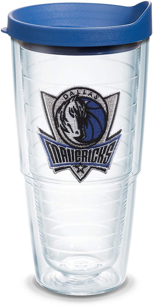 Tervis 1091046 NBA Dallas Mavericks Tumbler with Emblem and Blue Lid 24oz Clear