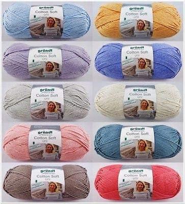 Gründl Cotton Soft Uni - Ovillo de lana (100 g), color morado ...
