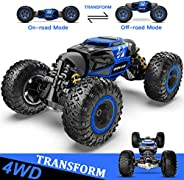 RC Car, 4X4 Kids Off Road 1:14 Large Size Transform Remote Control Car High Speed Fast Racing Monster Vehicle