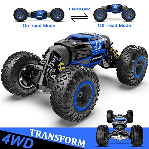 XIXOV 1:14 Remote Control Car, Kids Toys Off Road Transform Racing Car 2.4Ghz 4WD Electric Motors Vehicles Buggy Hobby Car Outdoor for Adults from XIXOV