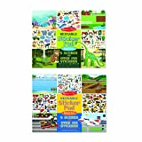 Arts & Crafts : Melissa & Doug Reusable Sticker Pads Set: Vehicles and Habitats, 315+ Stickers and 10 Scenes