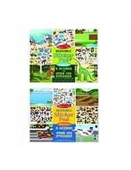 Melissa & Doug Reusable Sticker Pads Set: Vehicles and Habita...