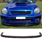 Front Bumper Lip Fits 2002-2003 Subaru Impreza | DP Style Black PU Front Lip Finisher Under Chin Spoiler Add On by IKON MOTORSPORTS