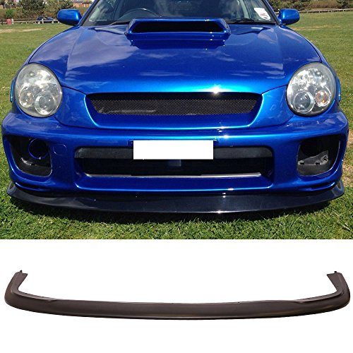 Front Bumper Lip Fits 2002-2003 Subaru Impreza | DP Style Black PU Front Lip Finisher Under Chin Spoiler Add On by IKON MOTORSPORTS