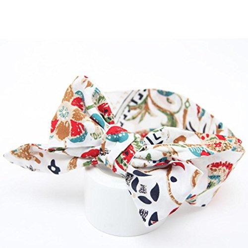 Tenworld Baby Girls Headband For Newborns Elastic Cotton Hair Band (White) Corset Lip