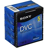 Sony 5DVM60PRR Premium Digital Video Cassette Brick (5-Pack)