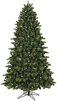 GE 7.5-ft Pre-lit Colorado Spruce Artificial Christmas Tree with 500 Constant Clear White Incandescent Lights