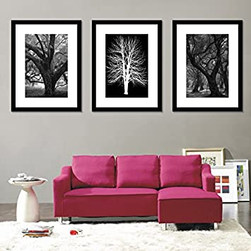 wall hanging art home decor modern gallery 3 piece wood multi piece photo frame