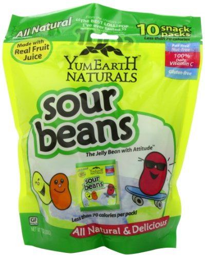 YummyEarth Sour Jelly Beans Snack Packs