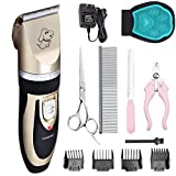 Pet Grooming Clipper Kits Low noise Dog and Cat Rechargeable Cordless Electric Clipper Animal Haircut Machine