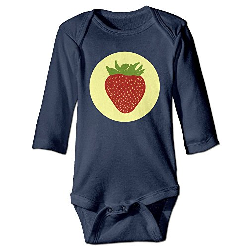 Itongquy Cute Strawberry Fashion Newborn Baby Suit Climb(Long Sleeve) 24 Months (Die Laughing Mask)