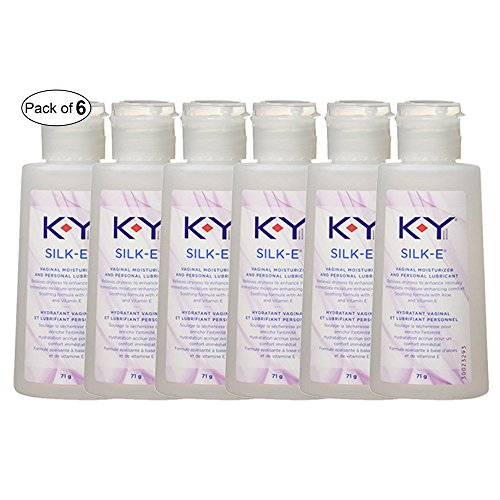 (K-Y Silk-E, Vaginal Lube Moisturizer and Personal Lubricant, Relieves Dryness, 71 g (Pack of 6))