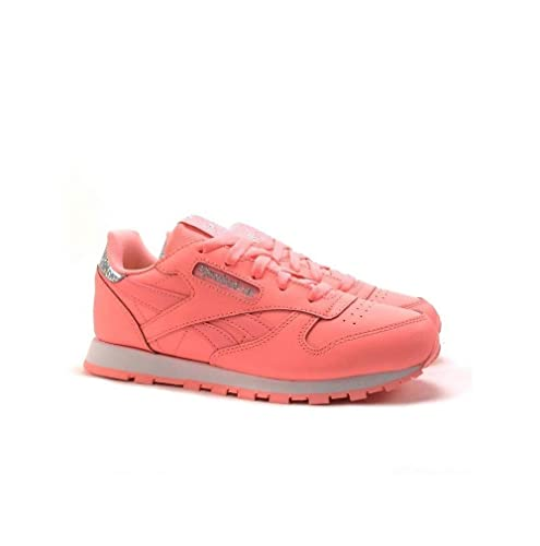 Reebok Classic Leather Pastel, Zapatillas de Running para Niñas: Amazon.es: Zapatos y complementos