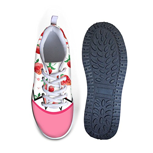 ThiKin Cute Fruit Painting Printed Women Platform Sneakers Shoes #4 Color SBgc75Vt
