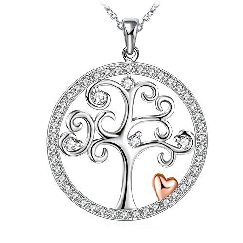 J.Rosée Tree of Life Sterling Silver Disc Pendant 18