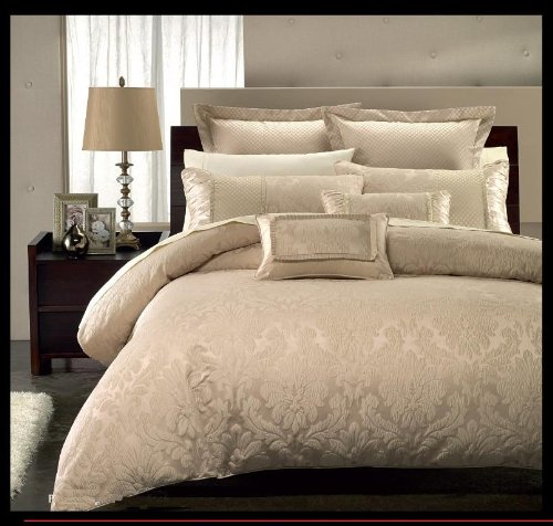 California King Size Bed in a Bag Set Sara By Royal Hotel Collection 9-pc Includes Down Alternative Comforter