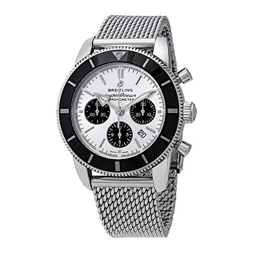 Breitling Mens Superocean HÉRITAGE II B01 Chronograph 44mm AB0162121G1A1 New 2018 Model
