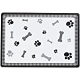 Petface Black Bone Placemat for Dogs