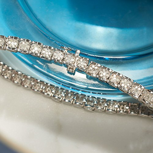 77d03da3d ... Ross-Simons 2.00-2.15 ct. t.w. Diamond Cluster Tennis Bracelet in Sterling  Silver ...