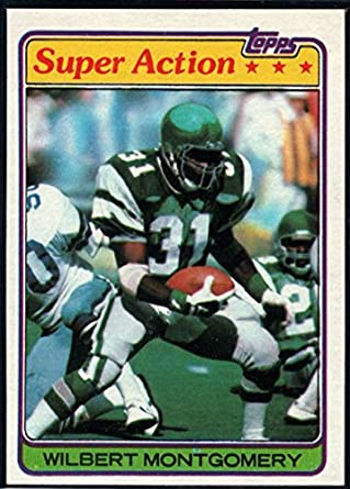 huge discount b5e12 4d069 Amazon.com: Football NFL 1981 Topps #392 Wilbert Montgomery ...