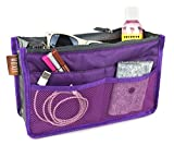 Hoxis Purse Insert Organizer, Expandable, with Handles (Purple)