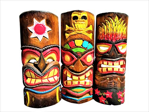 - All Seas Imports Set of (3) Wooden Handcarved 12
