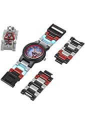 LEGO Kids' 9000423 Legends of Chima Worriz Plastic Watch with Link Bracelet and Figurine
