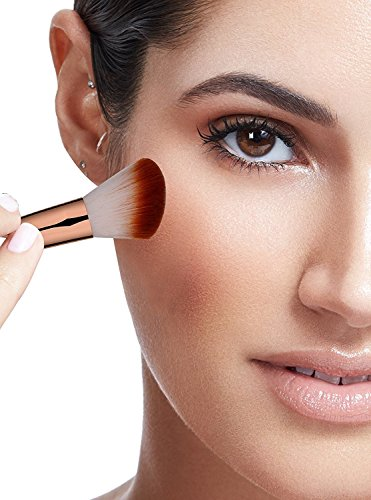 BS-MALL Makeup Brush Set 15 Pcs Wooden Eyeshadow Lip Foundation Makeup Brush Set