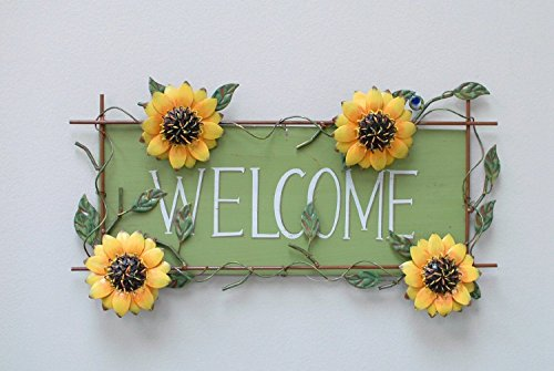 Metla Sunflower Welcome Decorative sign