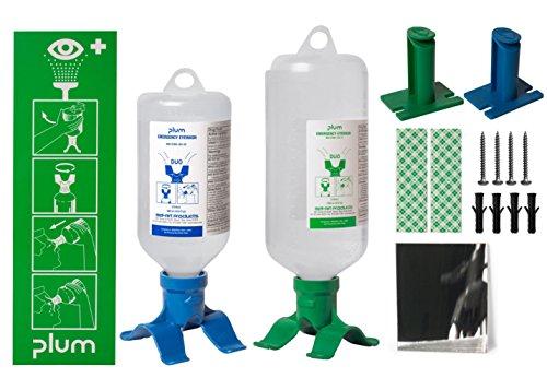 (PLUM DUO Open Eye Wash Station; 1 Bottle, 1000ml Sterile Saline (F24880-8010))