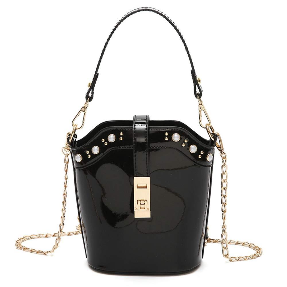 Sunwel Fashion Chic Little Phone Bag Bucket Bag Party Purse Women Girls Ladies (black)
