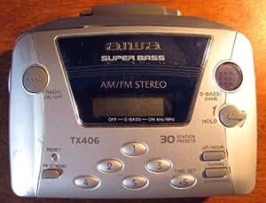 Aiwa HS-TX406 AM-FM Portable Cassette Player