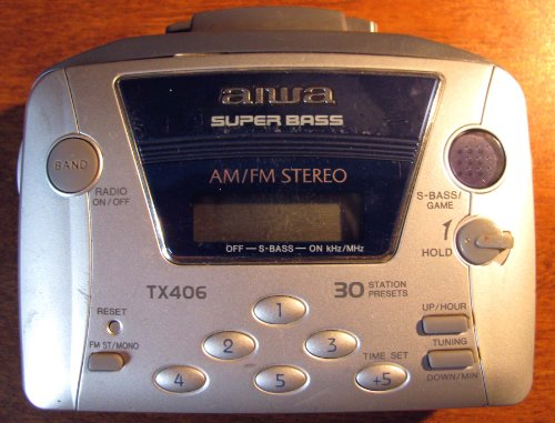 Aiwa HS-TX406 AM-FM Portable Cassette Player