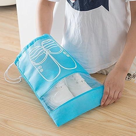 Superhappy 10pcs Travel Shoe Bags Dust-proof Shoe Organizer Bags with Drawstring XL 10PCS