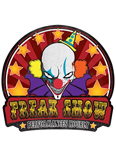 Freak Show Sign Metal Halloween Twisted Circus Carnival Decoration Horror - Show Decorations For Freak Party