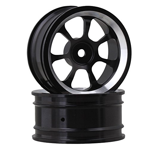 Review BQLZR Black Aluminum Alloy RC 1:10 On-Road Racing Car Wheel Rims with 7-Spoke Pack of 4
