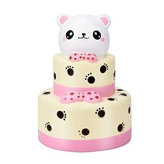 Mambain_Toy Squishy Kawaii Squishies Slow Rising 15 Cm di Orso Colossale Torta Morbido Fascino Lento Giocattolo di Decompressione Antistress Giocattoli Toy per Adulti E Bambini,Mambain