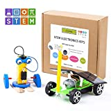 CY-ZAM DIY Robotics Science Kits STEM Toys for Kids, Electric Motor Assembly Solar Powered Car Kit, DIY ScienceEngineering Experiments Projects for Boys & Girls (2 Sets)