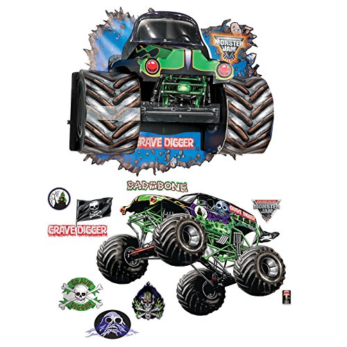 Cardboard Race Car Costume (Monster Jam Party Supplies - Giant Decals and Wall Burst Kit)