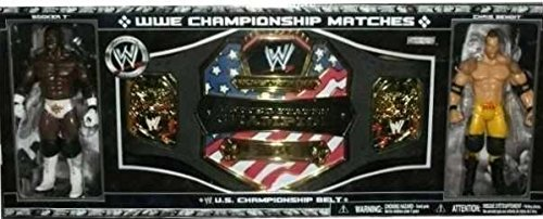 World Wrestling Entertainment WWE Championship Matches Booker T & Chris Benoit United States Champion Match Action Figure and Belt Set (Chris Benoit Best Match)