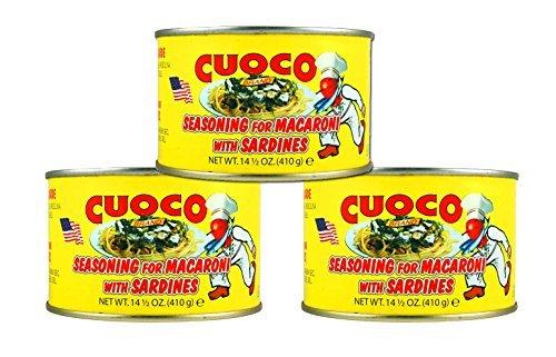 Seasoning for Macaroni with Sardines, 14.5oz, (Condimento Per Pasta Con Sarde) -3- Pack- ()