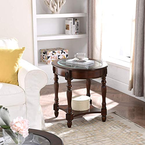Traditional Solid Wood Round End Table