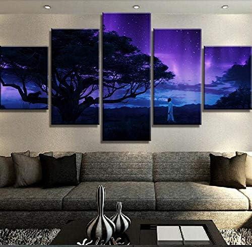 Fhsffs Nieuwe 5 Stuks Hd Print Decoracion Landschap Canvas Muur Kunstenaar Home Decor Woonkamer Canvas Schilderij