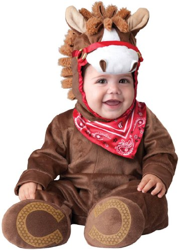 Cowboy Baby Costumes (InCharacter Baby Boy's Playful Pony Costume, Brown, Medium (12-18months))