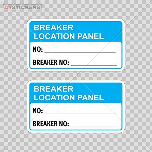 Vinyl Stickers Decals Breaker Location Panel No: _______ Breaker No: ______ Garage Home Window D217 A8948