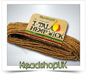 Hemp Wick Beeline - Cuerda de cáñamo orgánica (4,5 m)