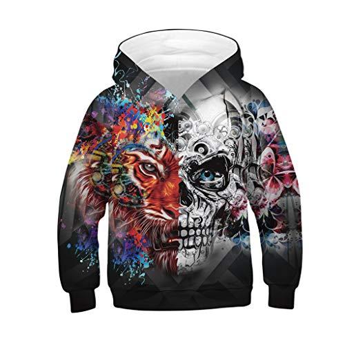 (❤️ Mealeaf ❤️ Kids Boys Girls Hoodies Sweatshirt 3D Galaxy Fleece Print Cartoon Hooded Coat Tops Clothes 4-13 Years (N Multicolor, 12-13 Years))