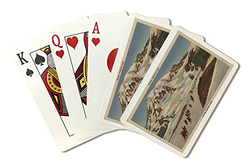Mt. Rainier, WA - Men on Horseback on Skyline Trail (Playing Card Deck - 52 Card Poker Size with - Trail National Mt Park Rainier
