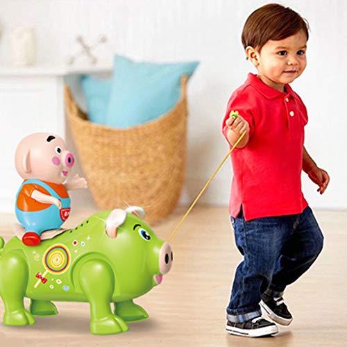 LtrottedJ Electric Pig Toy Dancing Music Walking Singing Musical Lighting for Children